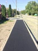 Asphalting of roads. Asphalt laying. Asphalt and repair