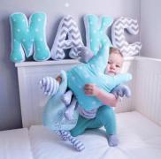 Бортики, именные игрушки, подушки, буквы для детской комнаты