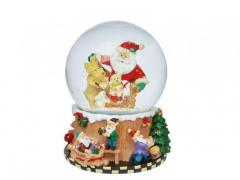 M7-330100, Music box with snow globe (Santa Claus), mixed
