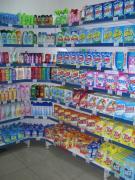 Metal shelves for shops