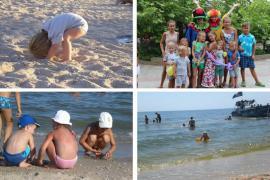 Rest on the Berdyansk Spit first line. Own beach