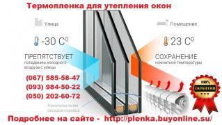 Теплозберігаюча плівка на вікна Енергозберігаюча плівка 2мХ3м